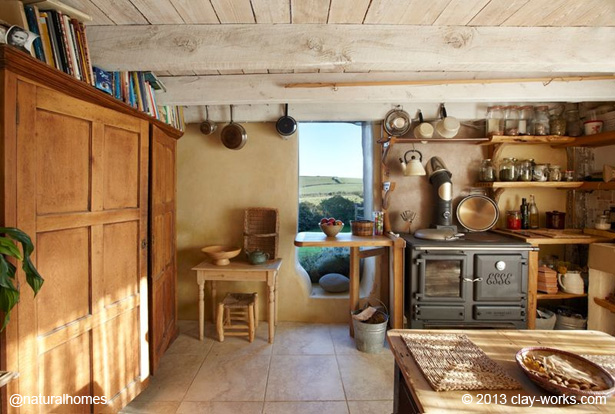 Beautiful simple and practical kitchens in natural homes for Kitchen designs by clay