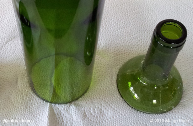 Cutting a bottle in half