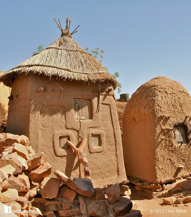 Dogon Clay Granaries In Songho Mali