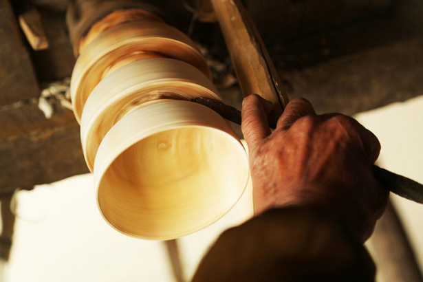 Wooden Bowls Turned On A Foot Powered Lathe