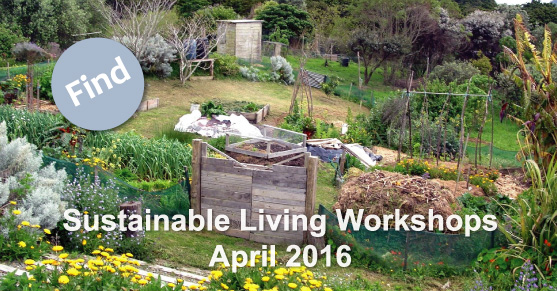 Sustainable Living Workshops: April 2016