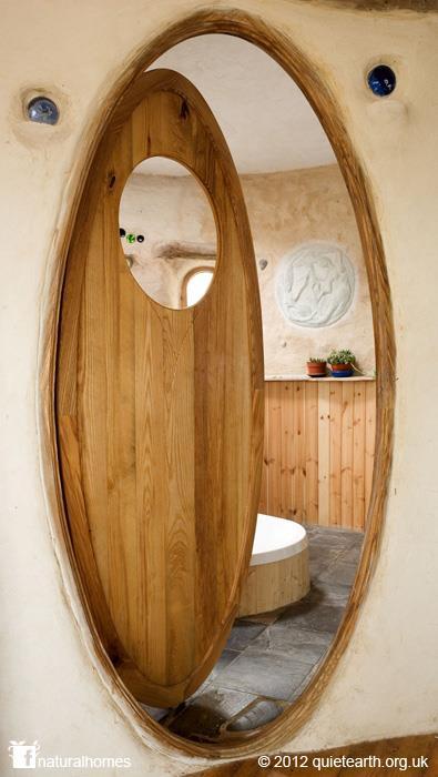 The door to rachel 39 s straw bale bathroom in wales for Rachel s fairy doors