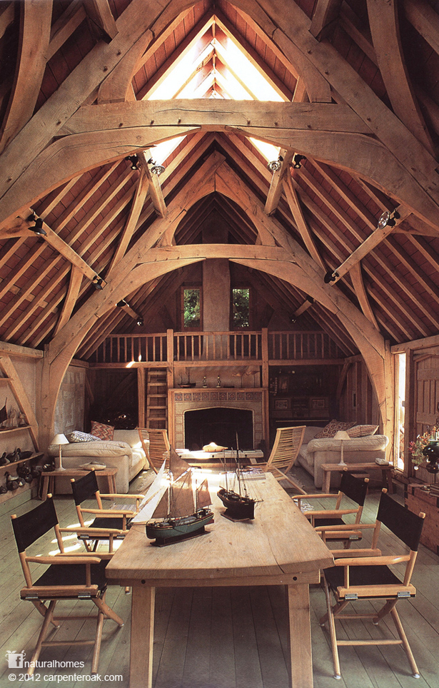 an oak timber framed house in devon england