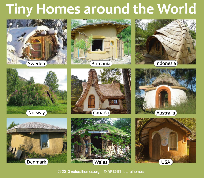 natural tiny homes around the world