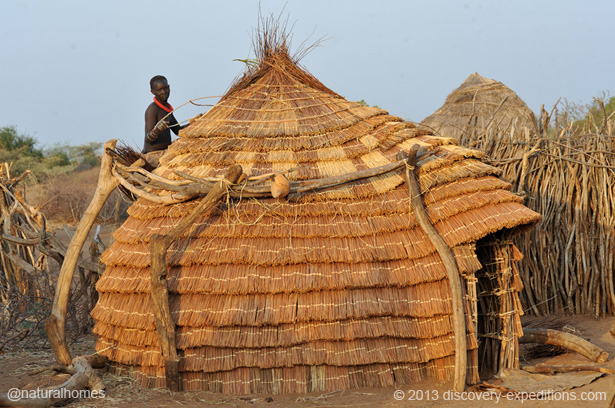 The beehive homes of the toposa people of southern sudan sciox Images