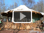 Cordwood Roundhouse by Tony Wrench