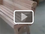 Folding garden chair and bench